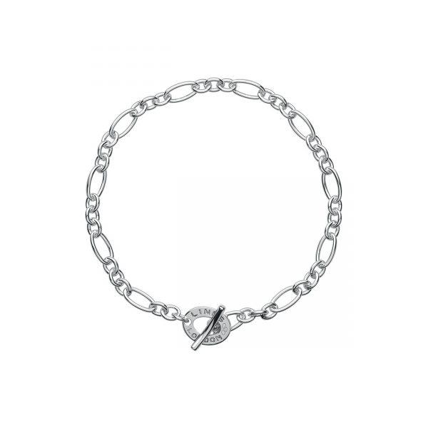 XS Sterling Silver Chain Charm Bracelet