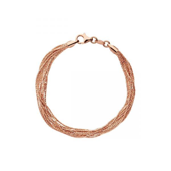 Essentials 18kt Rose Gold Vermeil Silk 10 Row Bracelet