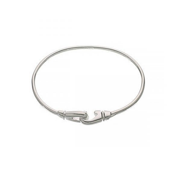 Essentials Sterling Silver Karabiner Bangle