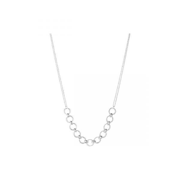 Aurora Sterling Silver Multi Link Necklace
