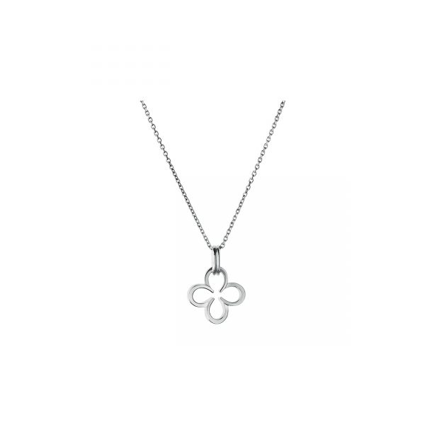 Ascot Sterling Silver Lucky Clover and Horseshoe Necklace