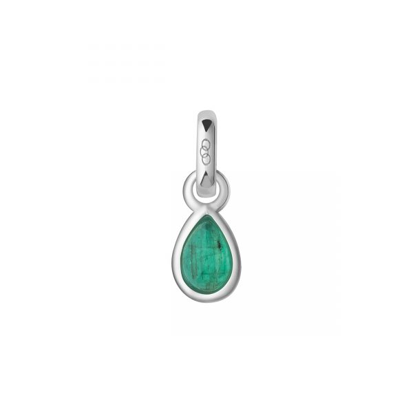 Emerald & Sterling Silver May Mini Birthstone Charm