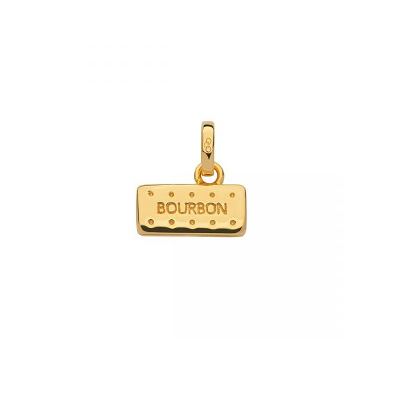 18kt Yellow Gold Vermeil Bourbon Biscuit Charm
