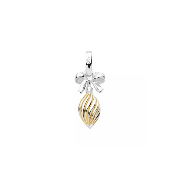 Christmas Two Tone Drop Bauble Charm