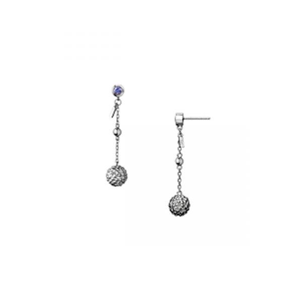 Effervescence Bubble Sterling Silver Drop Earrings