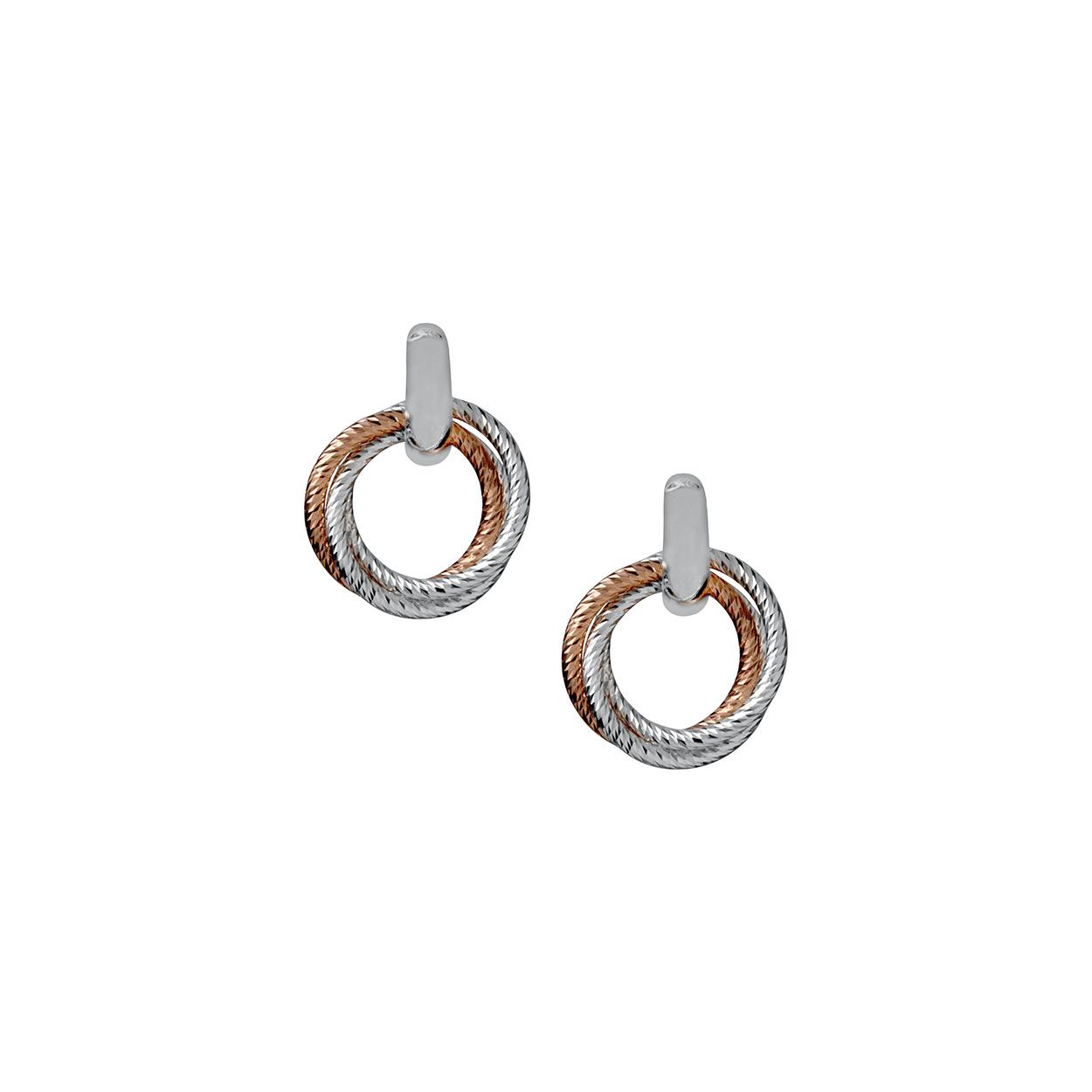 abe3384b5 Aurora Cluster Bi-Metal Hoop Earrings - FJ Zelley