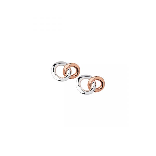 20/20 Silver & 18kt Rose Gold Infinity Stud Earring