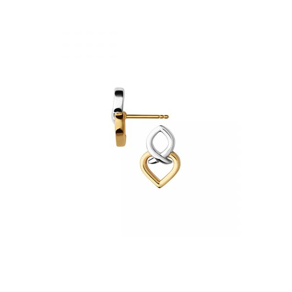 18K Yellow Gold Vermeil & Sterling Silver Infinite Love Earrings