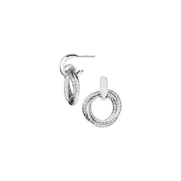 Aurora Sterling Silver Hoop Earrings