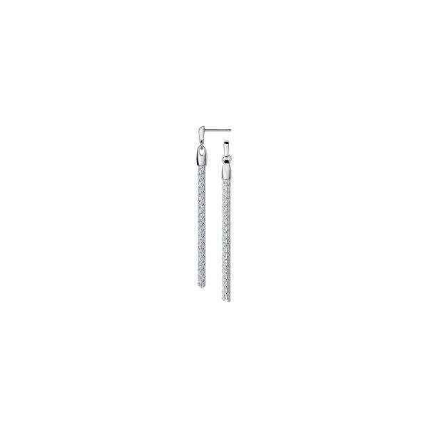 Essentials Sterling Silver Silk Row Earrings