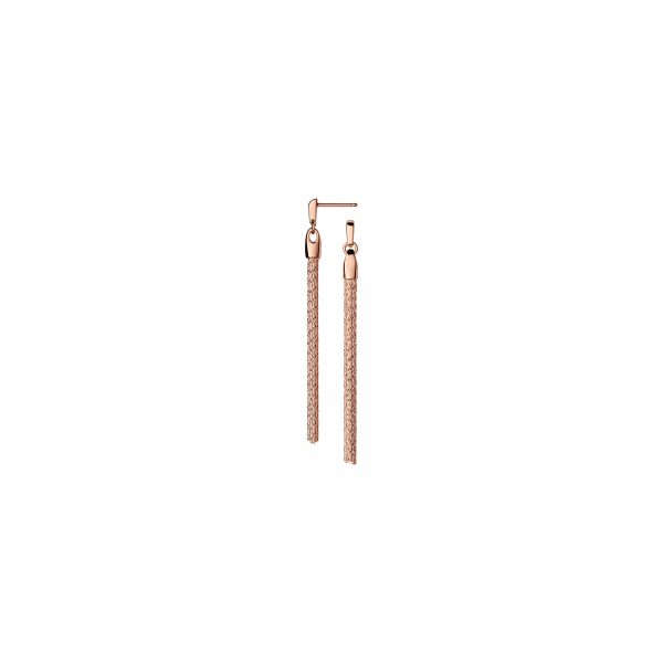 Essentials 18kt Rose Gold Vermeil Silk Row Earrings