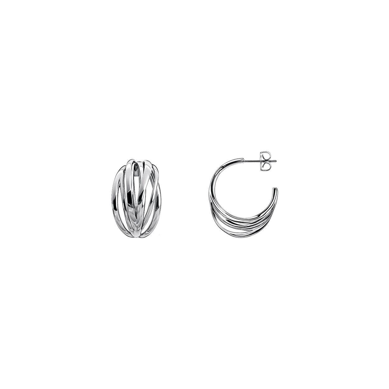 Home Brands Calvin Klein Earrings Stainless Steel Crisp Hoop