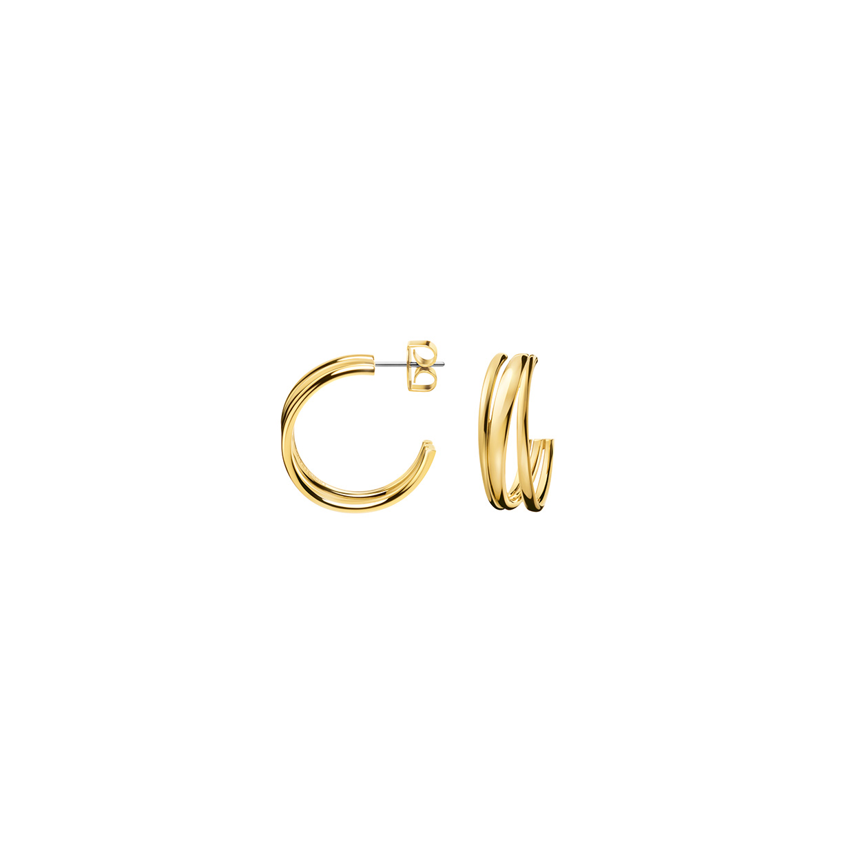 e342f32e4 Calvin Klein - Gold Plated Sumptuous Earrings - FJ Zelley