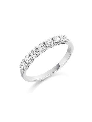 Seven stone brilliant cut diamond