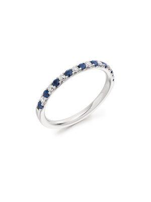 Brilliant cut Sapphire and Diamond
