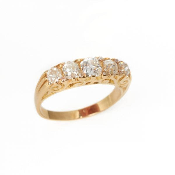 Pre Owned Five Stone Diamond Ring
