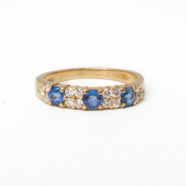Pre Owned Sapphire & Diamond Eternity Ring