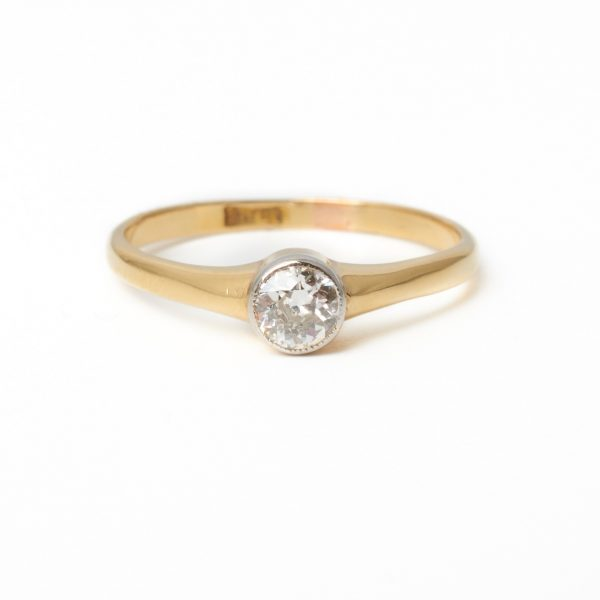 Pre Owned Rub Over Set Diamond Ring