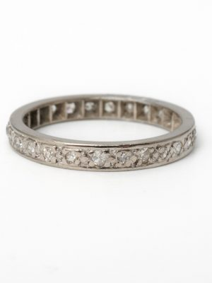 Pre Owned Platinum Full Eternity Ring