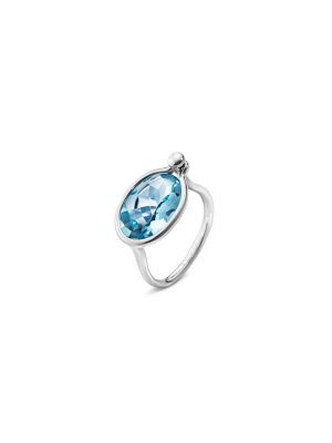 Georg Jensen Medium Savannah Blue Topaz Ring