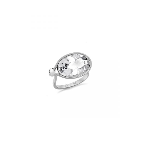 Georg Jensen Large Savannah Rock Crystal Ring