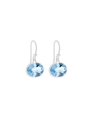 Georg Jensen Savannah Blue Topaz Drop Earrings
