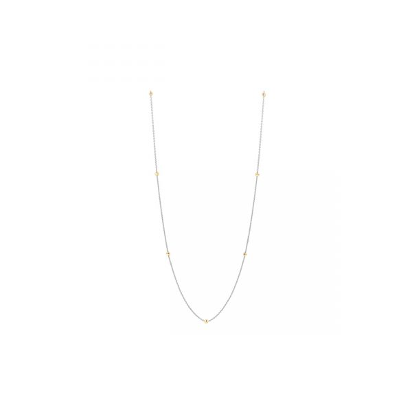 Ti Sento Milano Silver Necklace with Yellow Gold Plated Beads