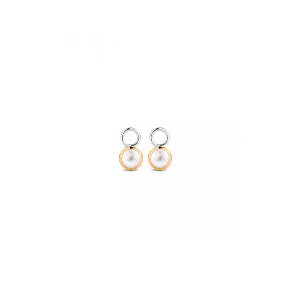 Ti Sento Milano Silver & Yellow Gold Plated Mother of Pearl Earring Droppers