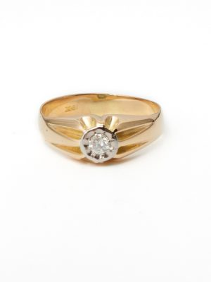 Pre Owned 18ct Yellow Gold Gypsy Ring