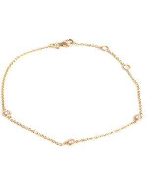 18ct Yellow Gold Diamond Set Bracelet