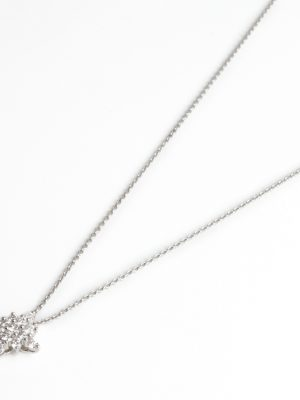 18ct White Gold Diamond Set Star Pendant