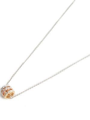 18ct Tri Colour Gold  Diamond Set Circles Pendant