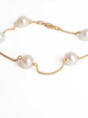 18ct Yellow Gold Pearl Bracelet