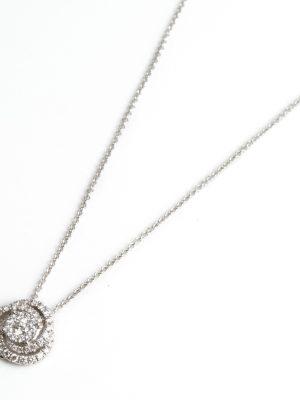 18ct White Gold Diamond Set Pendant