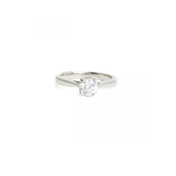 Pre Owned Platinum Single Stone Diamond Ring