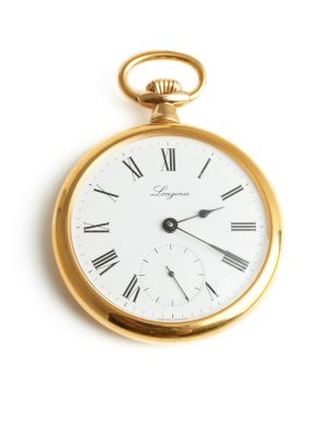Pre Owned Longines Gold Plated Mechanical Pocket Watch