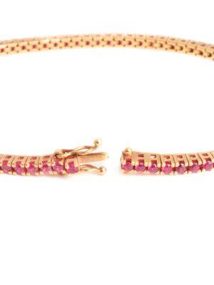 18ct Rose Gold Ruby Line Bracelet