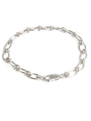 9ct White Gold Linked Bracelet