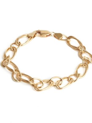 9ct Yellow Gold Double Linked Bracelet