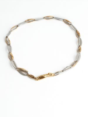 9ct Yellow & White Gold Bracelet