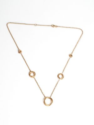 9ct Yellow Gold Circles Necklace