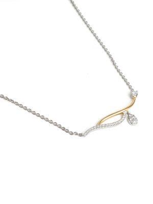 18ct White & Yellow Gold Diamond Set Pendant