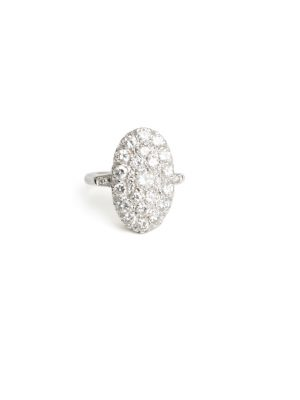 Pre Owned 14ct White Gold Diamond Cluster Ring