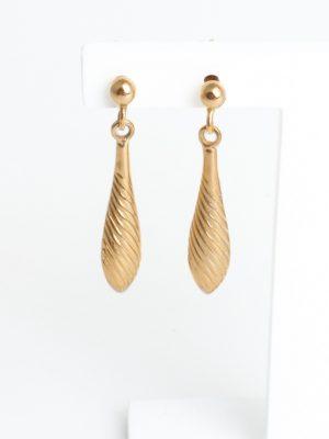 9ct Yellow Gold Teardrop Stud Earrings