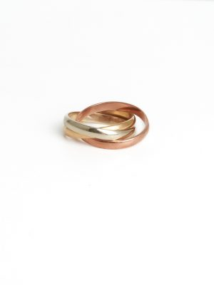 9ct Tri Colour Gold Russian Wedding Ring