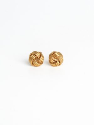 18ct Yellow Gold Knot Earrings