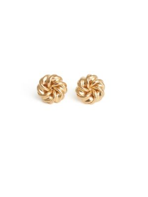 9ct Yellow Gold Knott Earrings