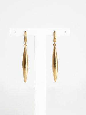 9ct Yellow Gold Bombe Drop Earrings