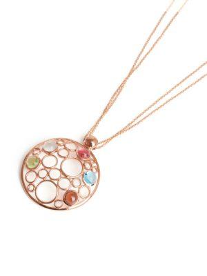 9ct Rose Gold Multi Stone Bubble Pendant