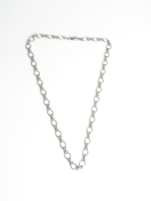 9ct White Gold Linked Necklace